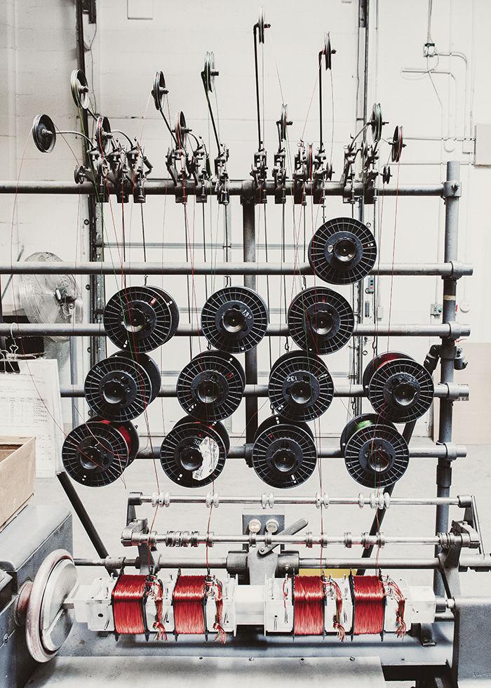 McIntosh Laboratory factory hand operated machine wire bobbin