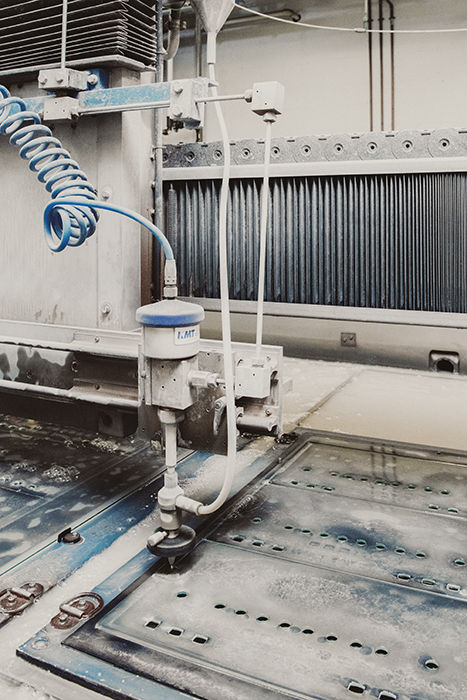 McIntosh Laboratory factory waterjet
