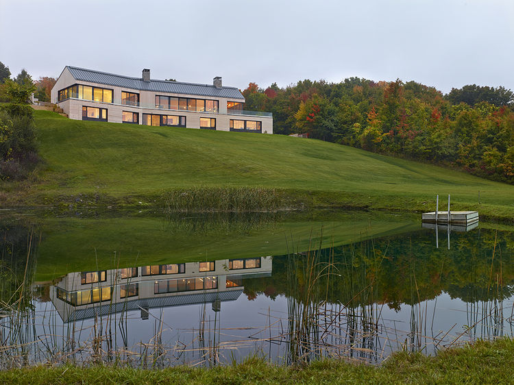 Ontario home overlooking pond.