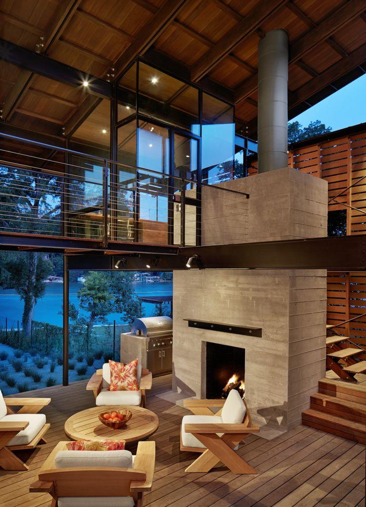 Wide-open Texas living room