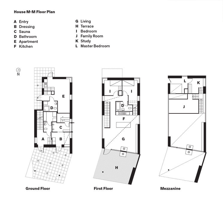 Modern home in Finland with sauna floor plans