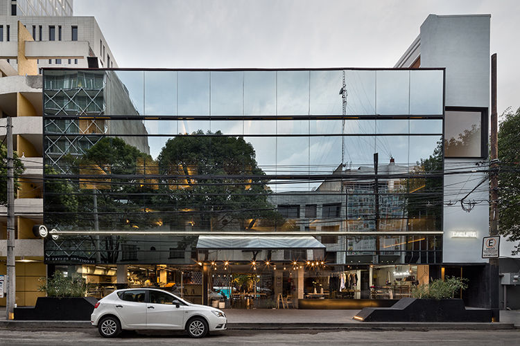 The reflective facade of Mexico City's Hotel Carlota by JSa Arquitectura