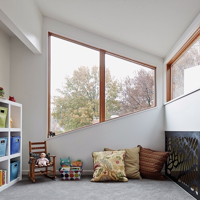Modern window in kids room, Hufft Projects