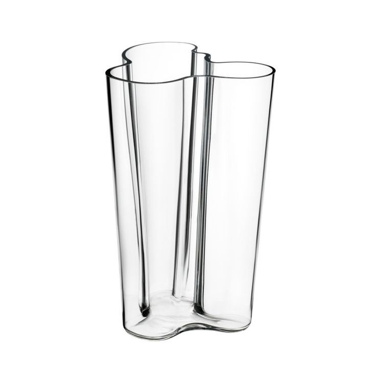 Tall Aalto vase in clear glass
