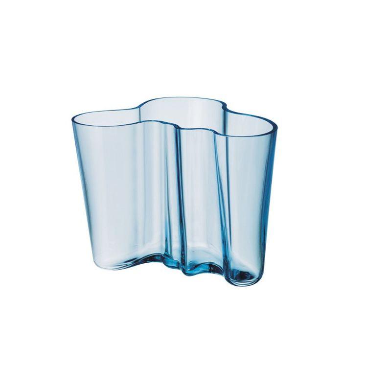 Iconic Iittala hand-blown glass vase
