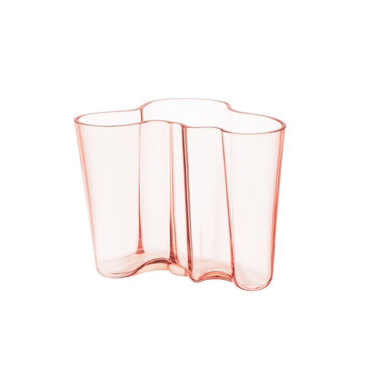 Pink Alvar Aalto vase inspired by undulating waves