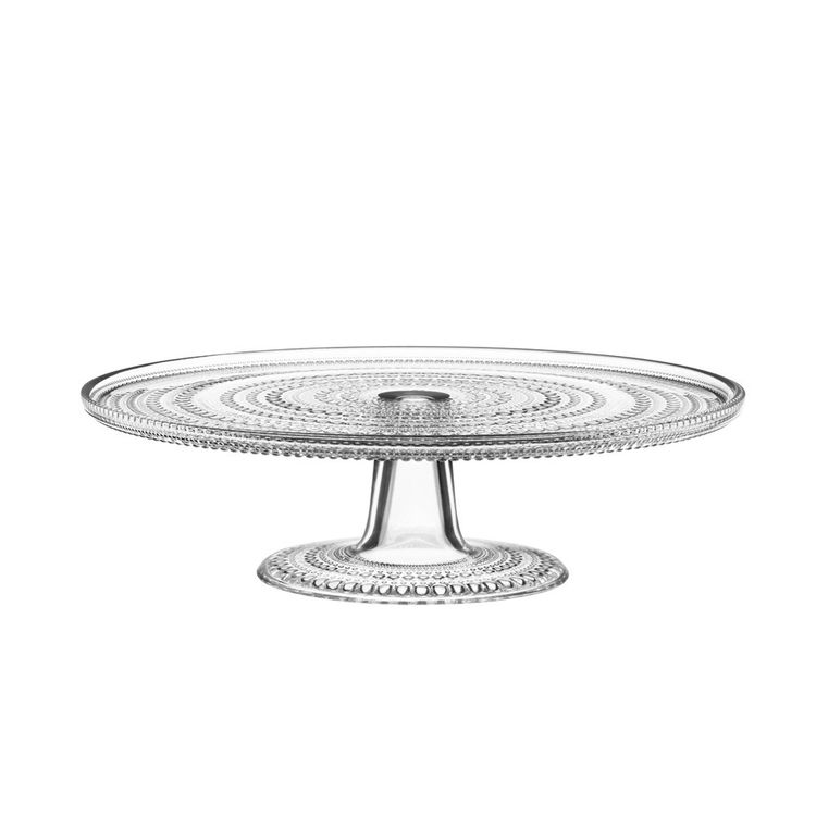 Iconic glass cake stand with dewdrop design