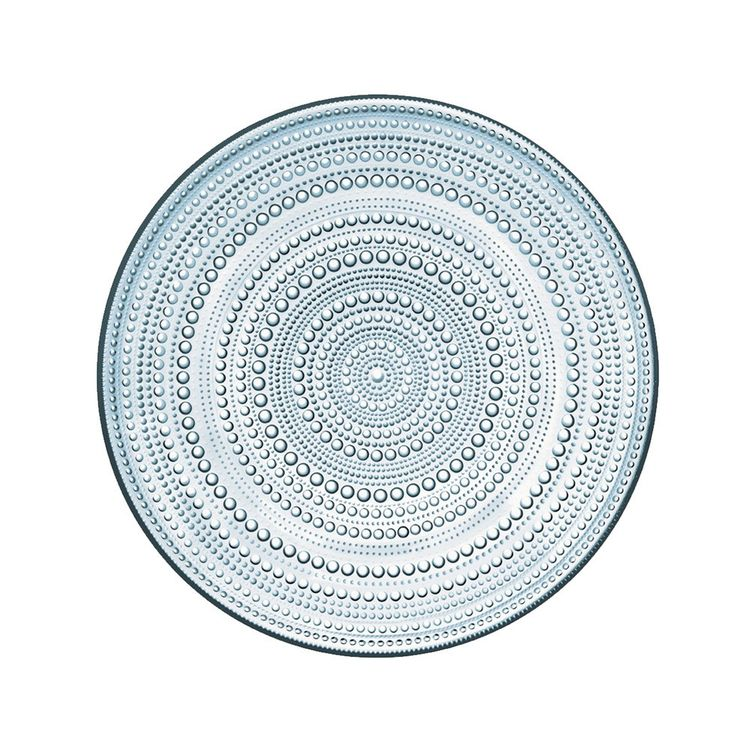 Classic Iittala glass plate with dewdrop detail