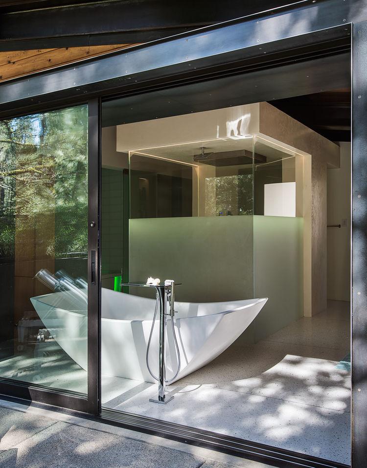 Bancroft residence freestanding tub
