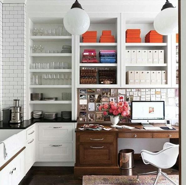 Kitchen-office hybrid