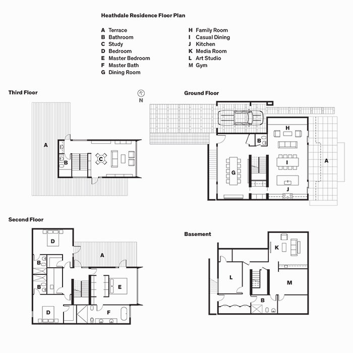 Heathdale Residence Floor Plan