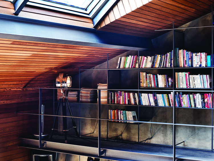 Shelving in an Istanbul loft