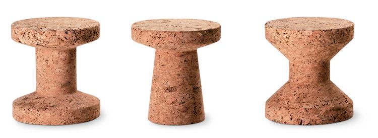 Sculptural set of cork stools