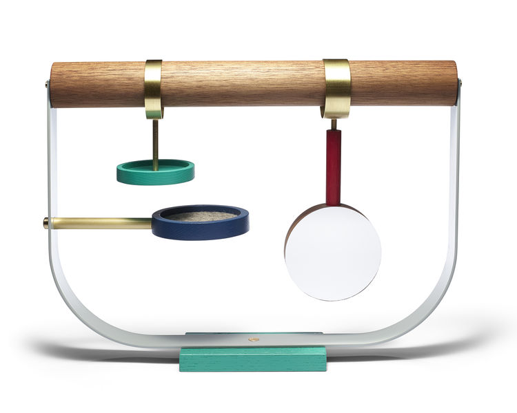 colorful jewelry stand inspired by bowerbirds