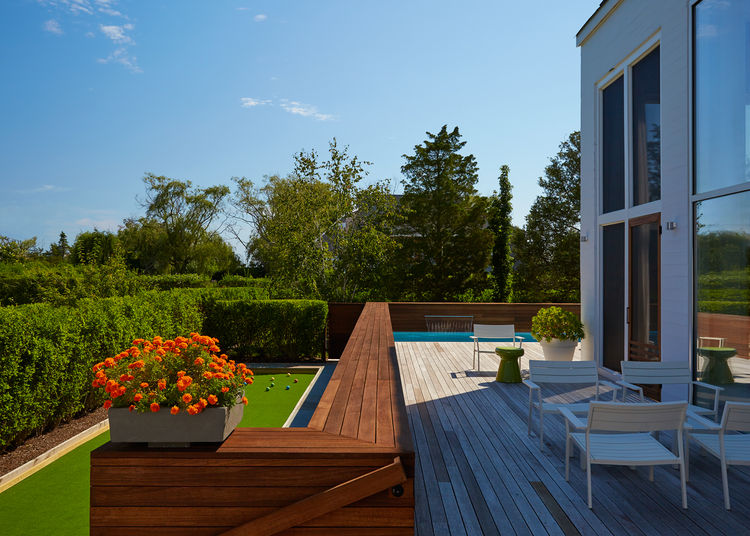 The renovated deck from a Long Island home.