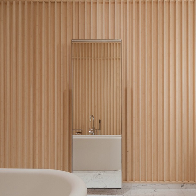 Carine Roitfeld's bathroom by David Chipperfield