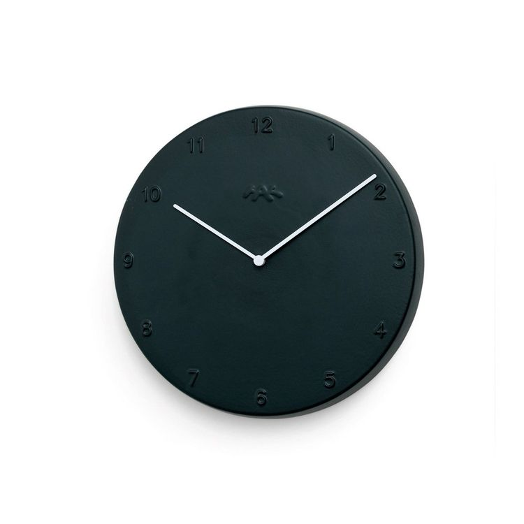 Classic ceramic wall clock in stark black and white