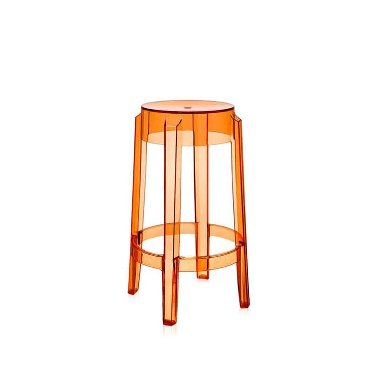 Translucent orange counter stool
