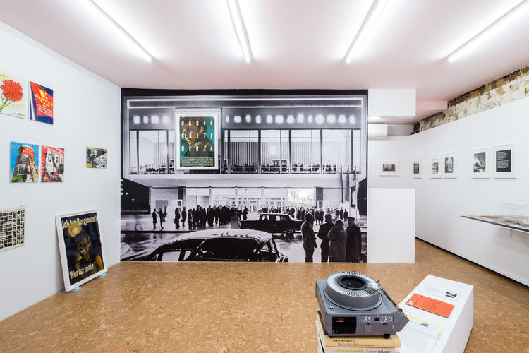 Exhibition view, of Klaus Wittkugel works at P! gallery, New York