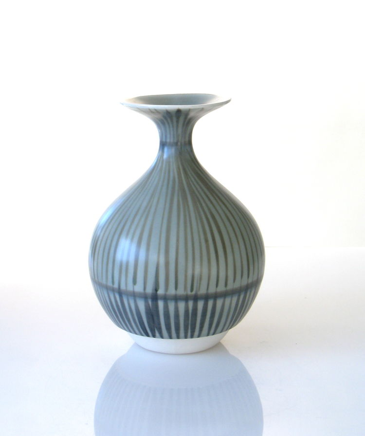 Bulbous vase featuring KleinReid signature glaze technique
