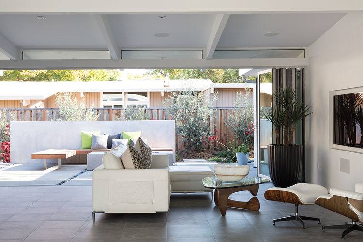 Palo Alto Eichler Renovation Living Area