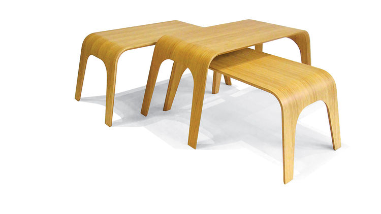 armen Sevada Gharabegian of Lounge22 in Los Angeles and his bamboo folding tables