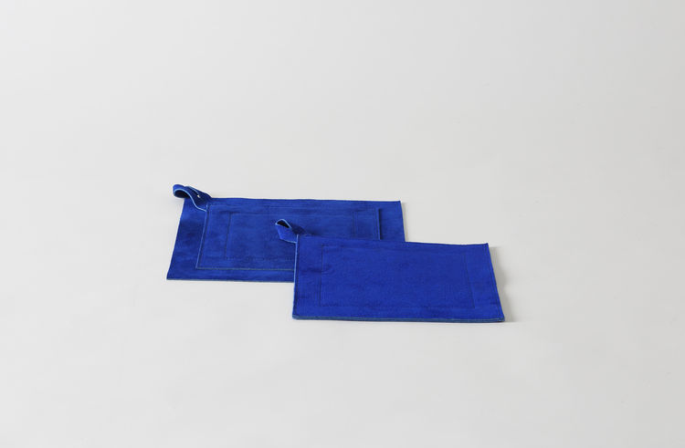 Blue suede pot holder from MARCH SF