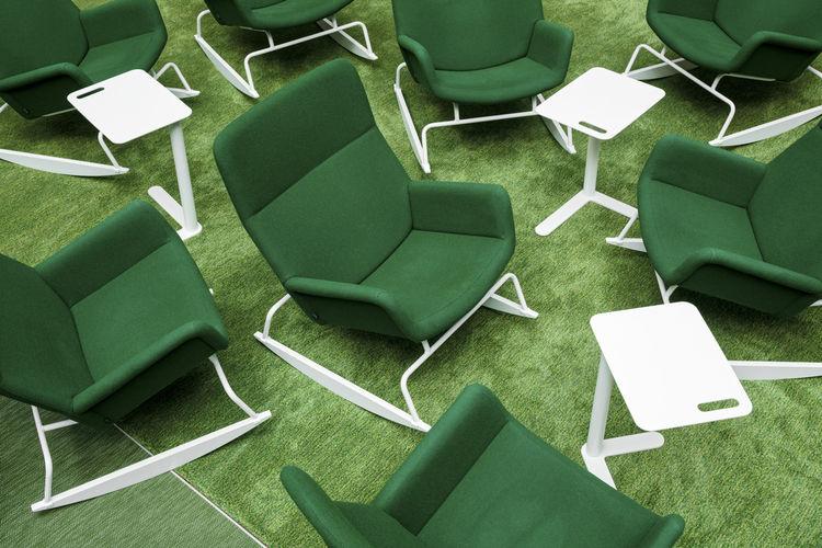 Lounge chairs designed by Yrjö Kukkapuro.