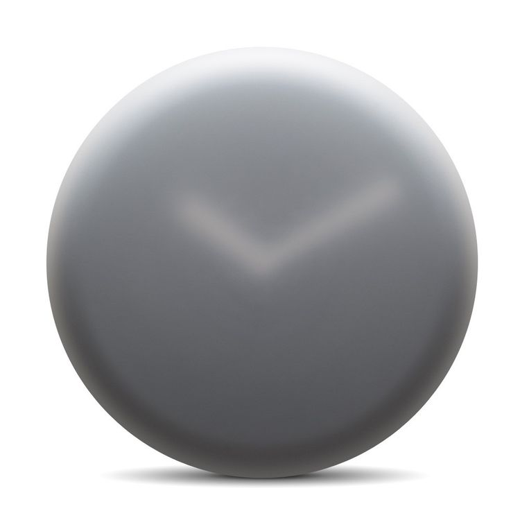 Distinctive wall clock with foggy look