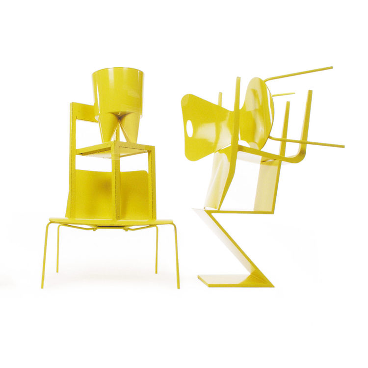 A collection of furnishings painted in Sunshine