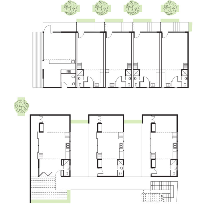 Micro-living unit floor plan