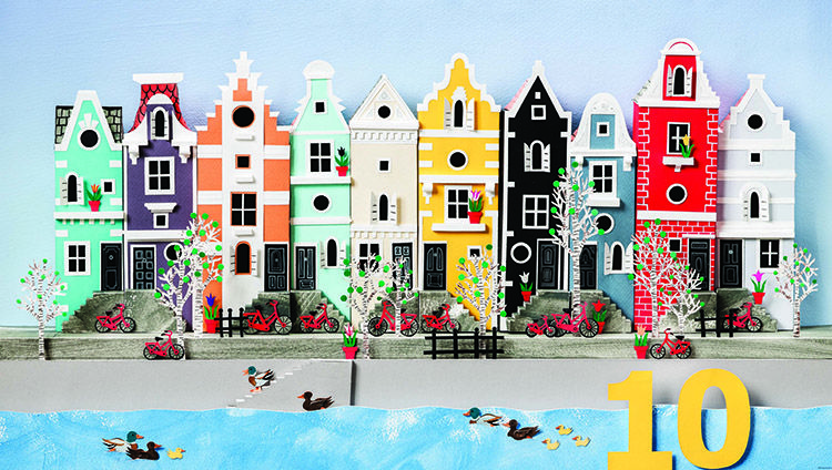 Little Houses Counting Book for kids Amsterdam town houses