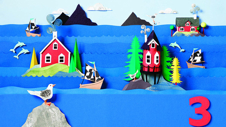 Little Houses architecture for kids Nordic island houses