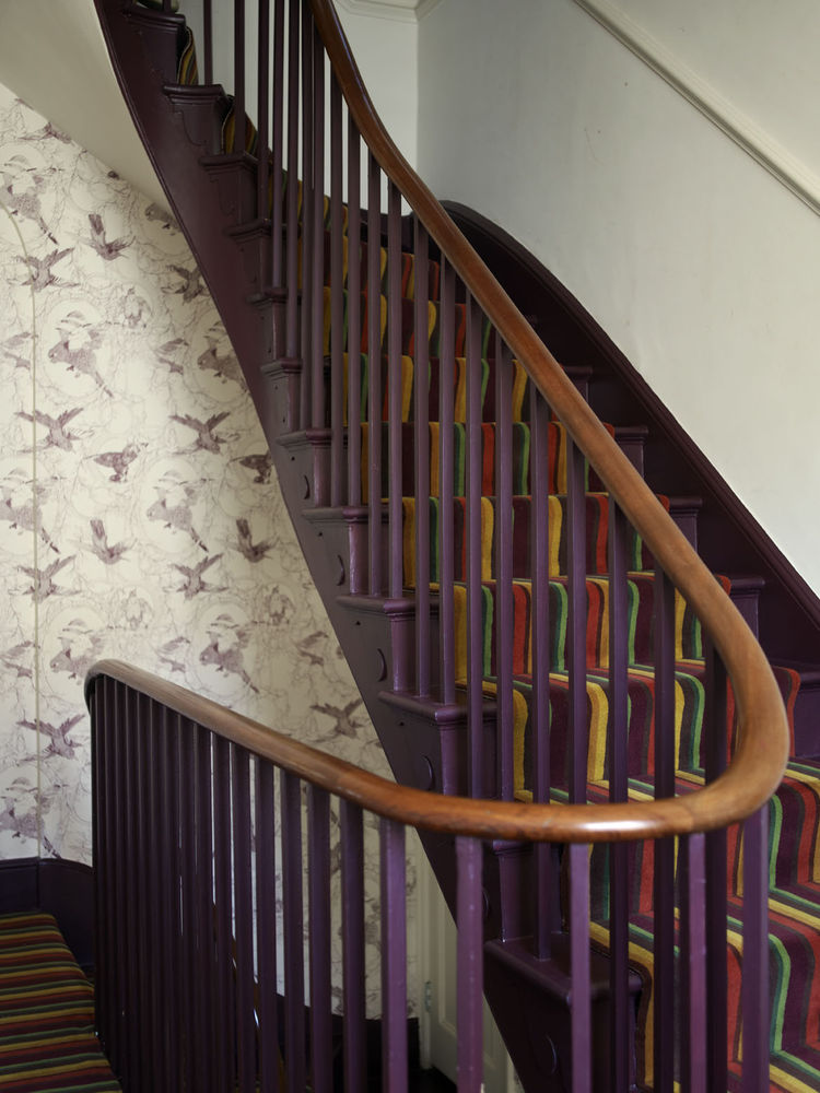 London Terrace home staircase
