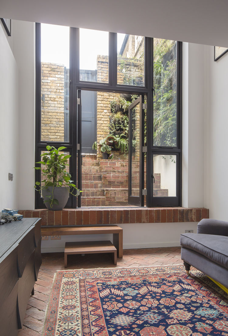 London Terraced Home Living Room