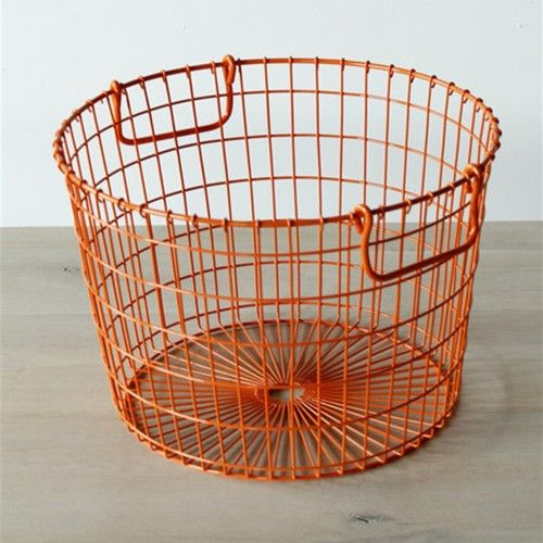 Traditional storage basket with handles