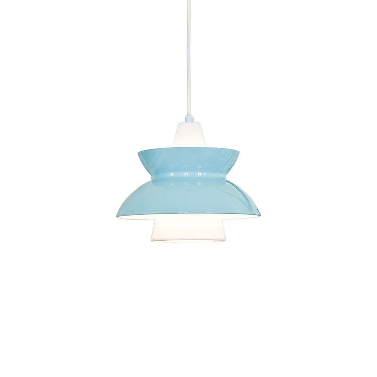 Colorful pendant suspension light with spun shade