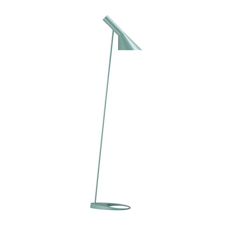 Minimalist floor lamp in light blue finish
