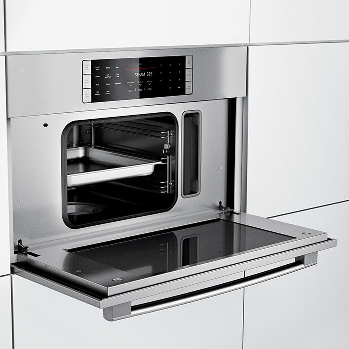 modern kitchen appliances like the Bosch 30-inch steam convection oven