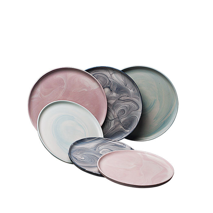 Modern Made in the USA America products like the Marble series plates by Felt+Fat from Pennsylvania