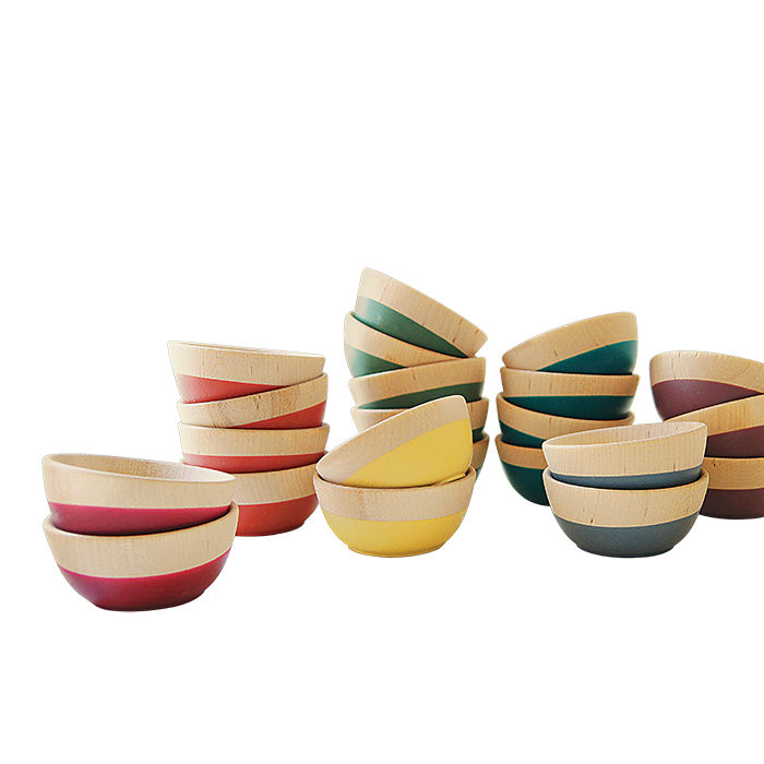 Modern Made in the USA America products like the Rubber-dipped wood bowls from Wind Willow Home from Minnesota