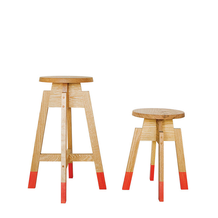 Modern Made in the USA America products like the tall and small stools by Plenty Design Coop from Alabama