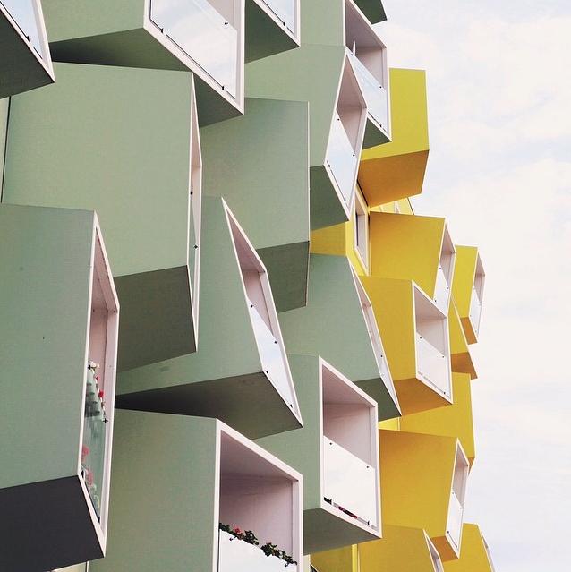 Apartment building in Copenhagen, Denmark