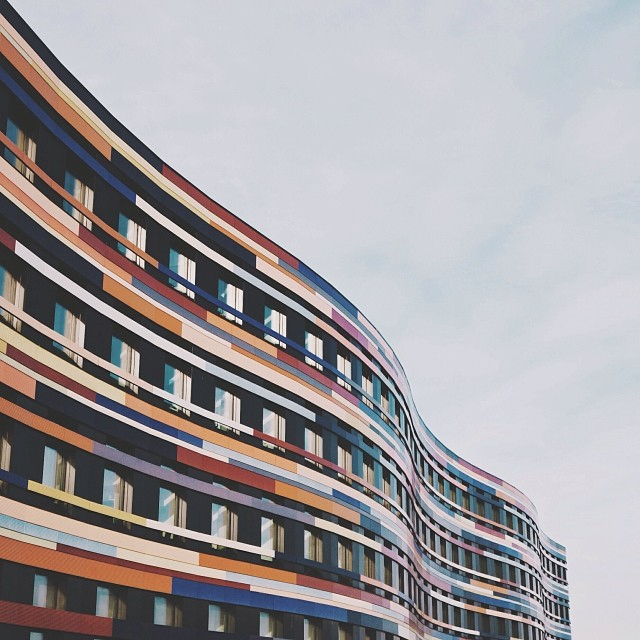 Building facade in Wilhelmsburg, Hamburg, Germany
