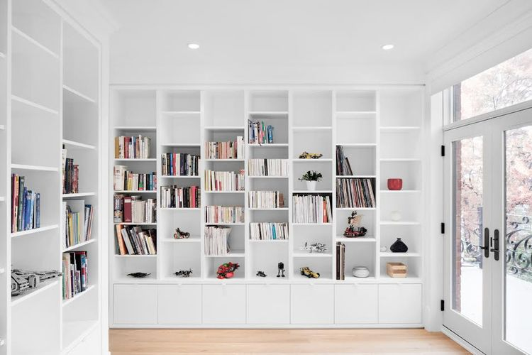 A study room that also doubles as a play room.