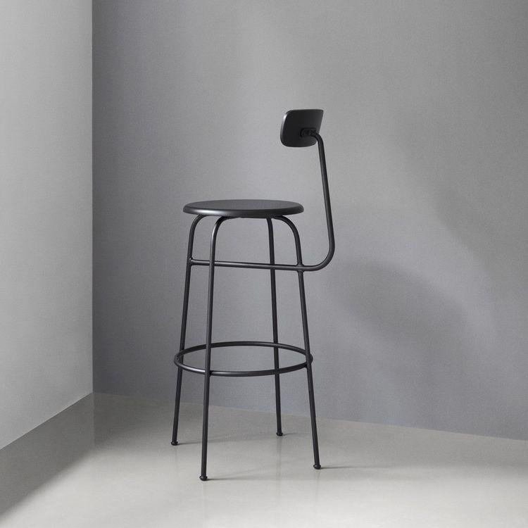 Bauhaus-inspired bar stool with seat back