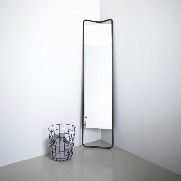 Lean, full-body floor mirror by KaschKasch for Menu