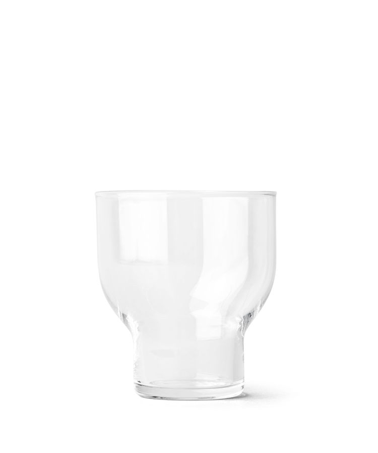 Simple stackable glass with distinctive shape
