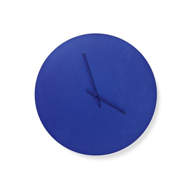 Powder-coated steel wall clock