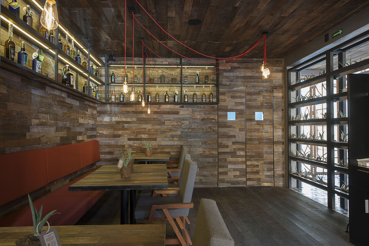 Expendio Tradición is a traditional mezcal bar in Oaxaca, Mexico with modern appeal, designed by Ezequiel Farca